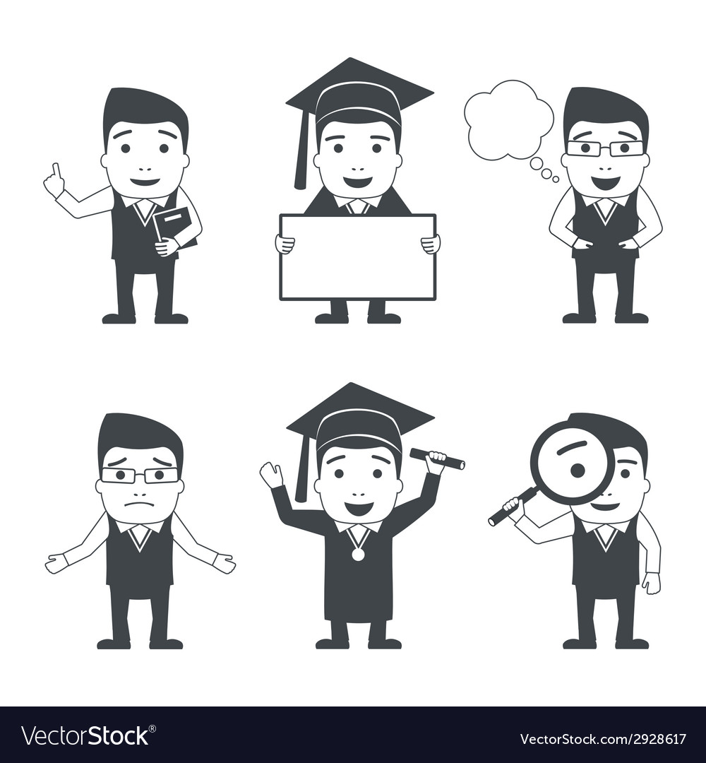 Education characters set vector | Price: 1 Credit (USD $1)