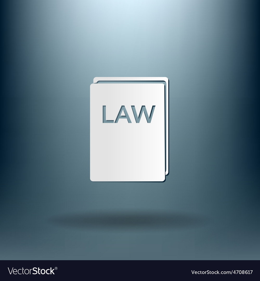Law book icon set of laws symbol of justice vector | Price: 1 Credit (USD $1)