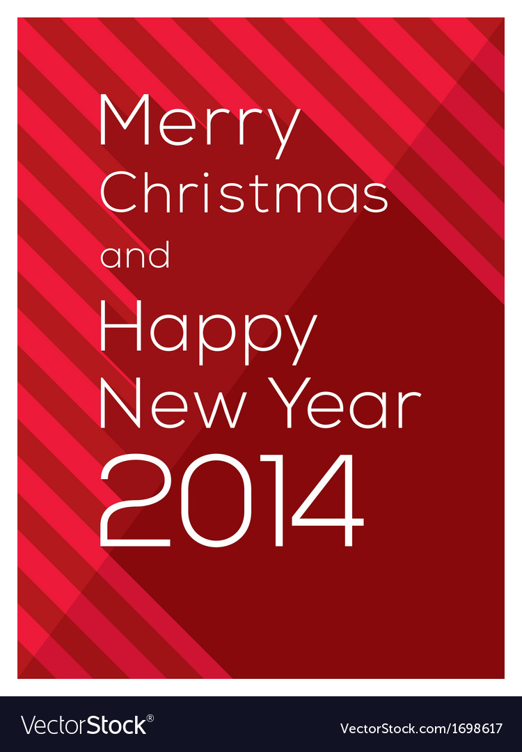 Merry christmas and happy new year 2014 vector | Price: 1 Credit (USD $1)