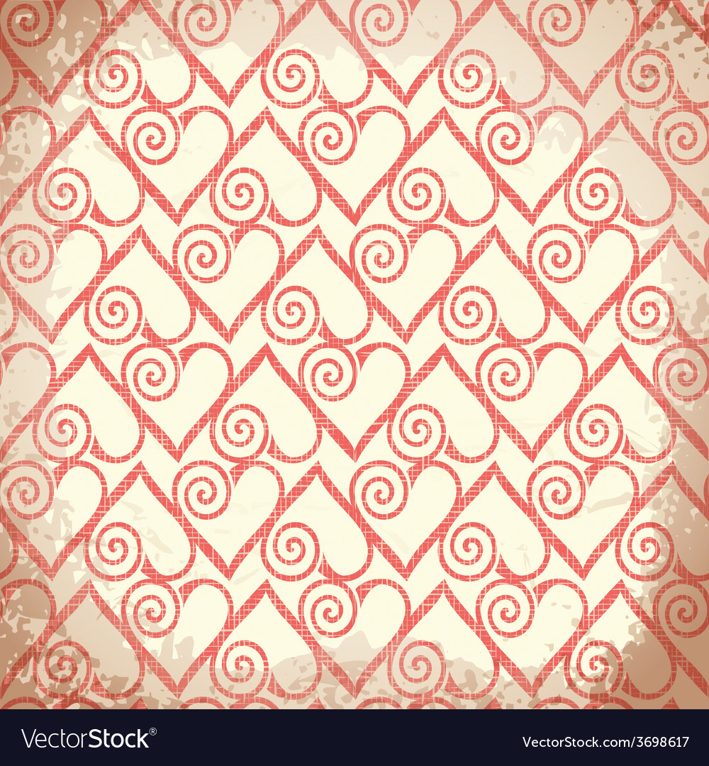 Old shabby background with hearts vector | Price: 1 Credit (USD $1)