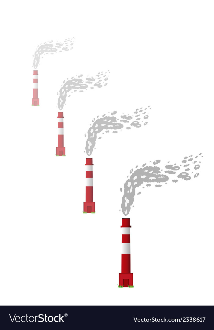Smoking chimneys vector | Price: 1 Credit (USD $1)