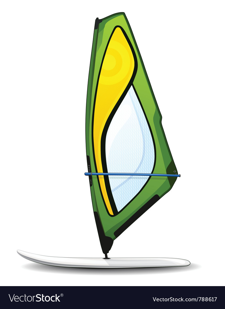 Windsurfing board vector | Price: 3 Credit (USD $3)