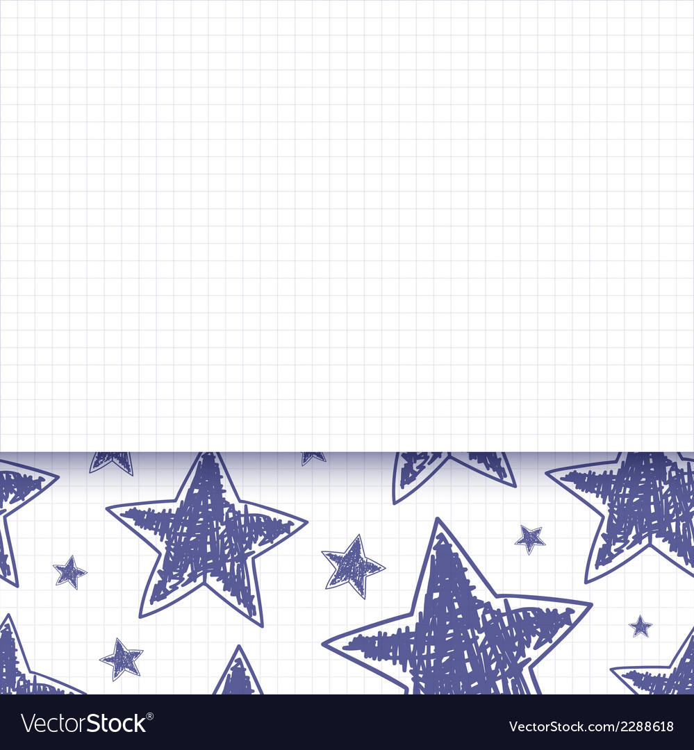 Abstract background with hand drawn stars vector   Price: 1 Credit (USD $1)