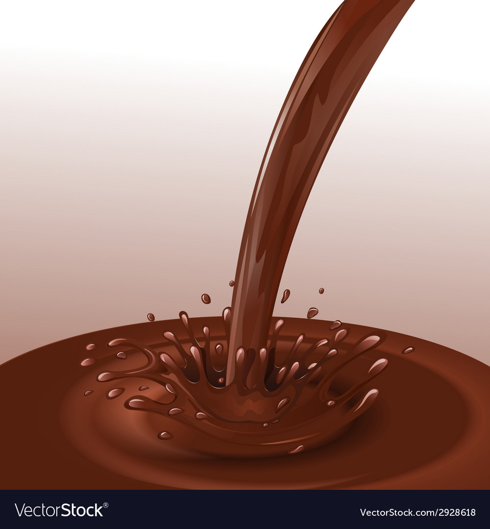 Chocolate flow background vector | Price: 1 Credit (USD $1)