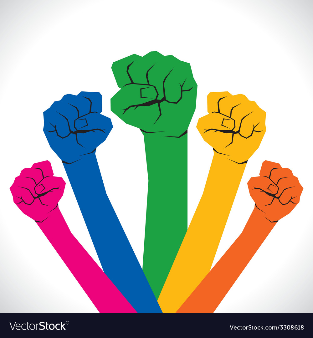 Colorful every hand support and show the unity vector   Price: 1 Credit (USD $1)