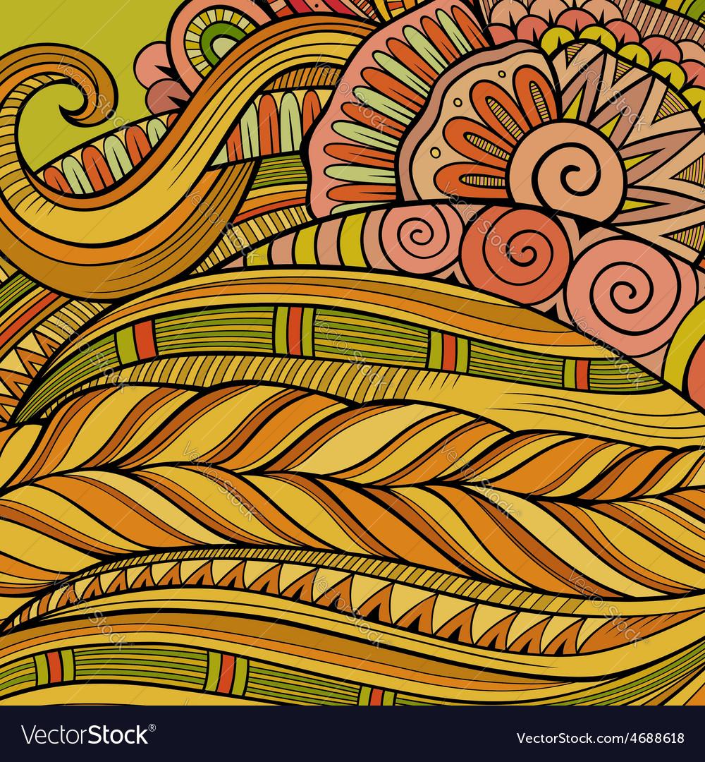 Decorative ornamental ethnic background vector | Price: 1 Credit (USD $1)