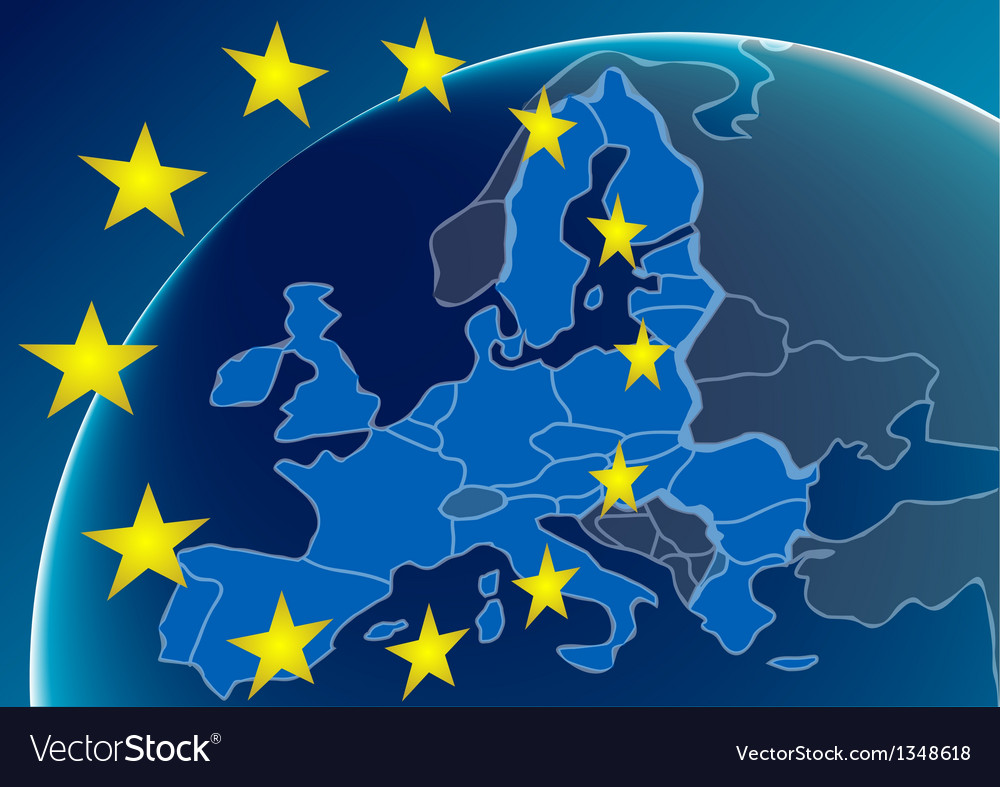 European union countries vector | Price: 1 Credit (USD $1)