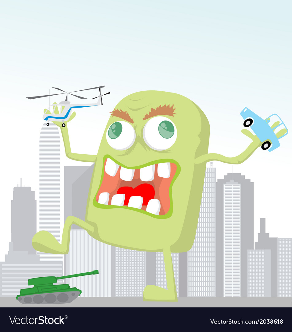Funny cartoon monster vector | Price: 1 Credit (USD $1)