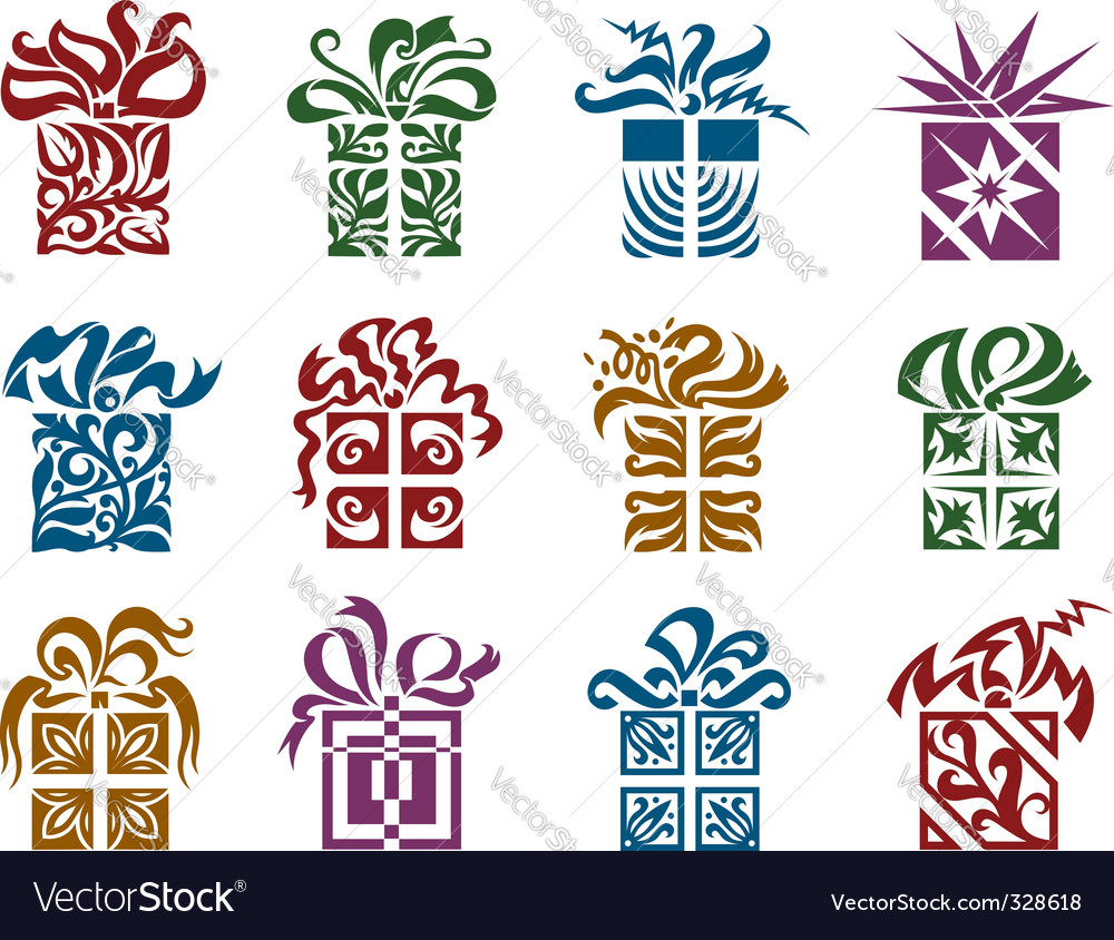Gift boxes vector   Price: 1 Credit (USD $1)