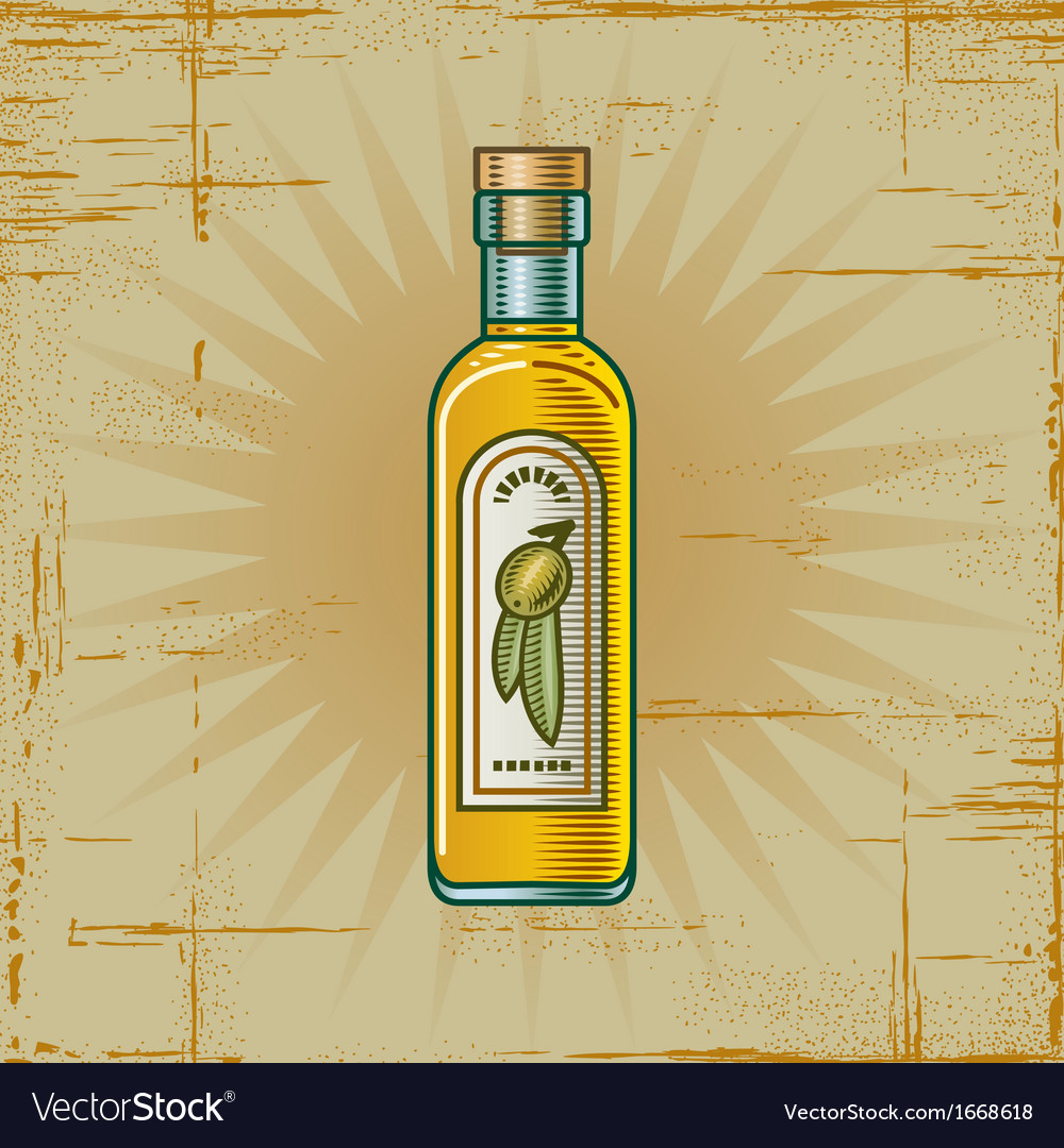 Retro olive oil bottle vector | Price: 1 Credit (USD $1)