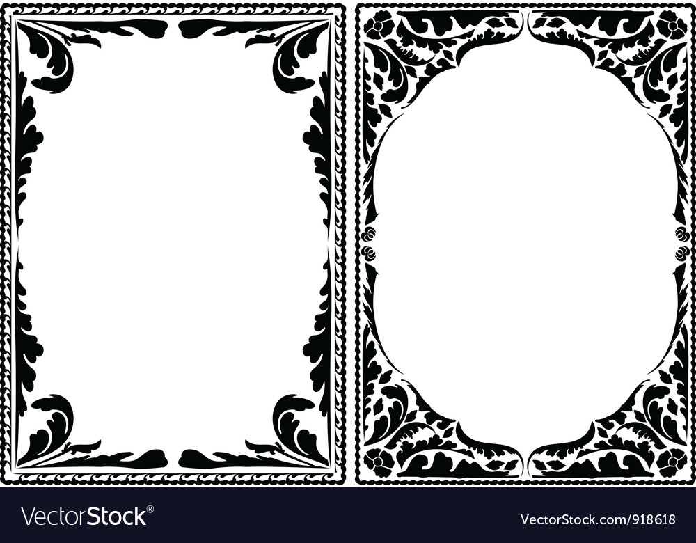 Silhouette decorative frames vector | Price: 1 Credit (USD $1)