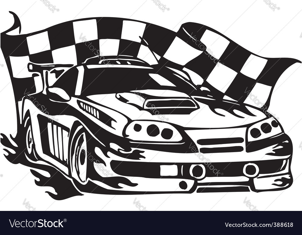 Street racing cars vector | Price: 1 Credit (USD $1)