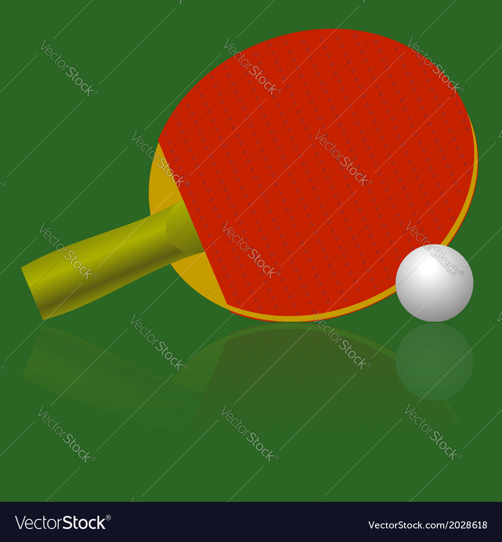 Table tennis racket and ball vector | Price: 1 Credit (USD $1)