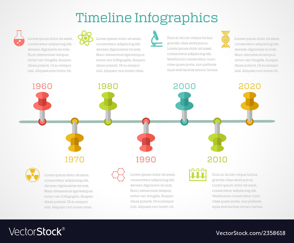 Timeline infigraphic chemistry vector | Price: 1 Credit (USD $1)
