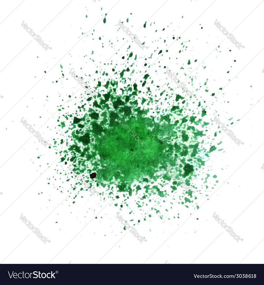 Watercolor green blot vector | Price: 1 Credit (USD $1)