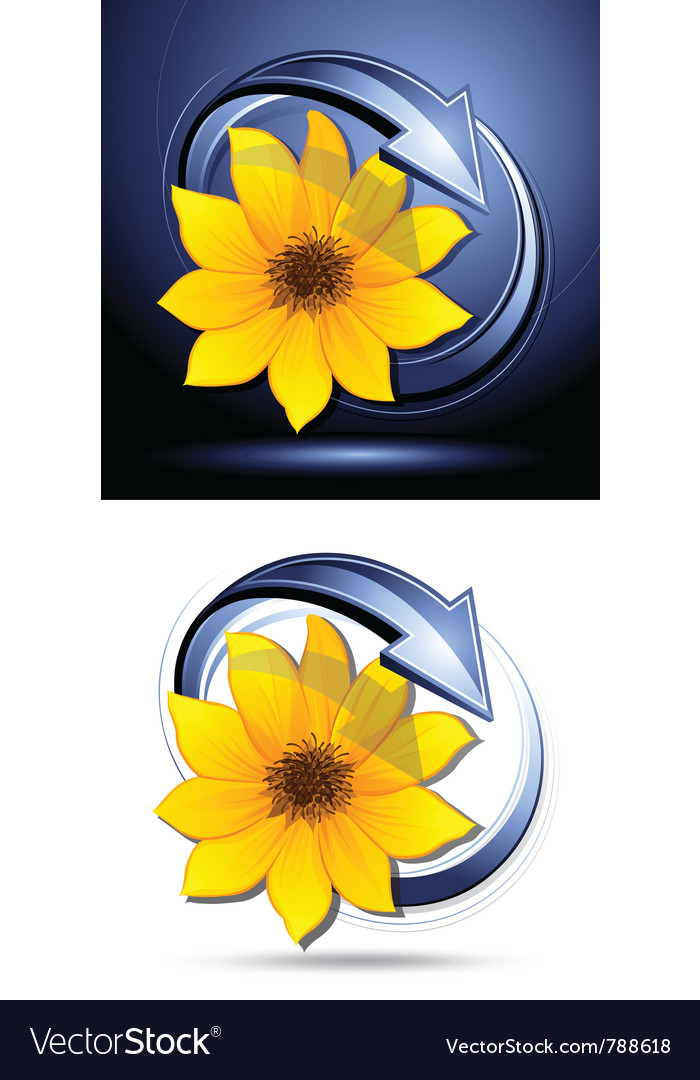 Yellow flower buttons vector | Price: 3 Credit (USD $3)