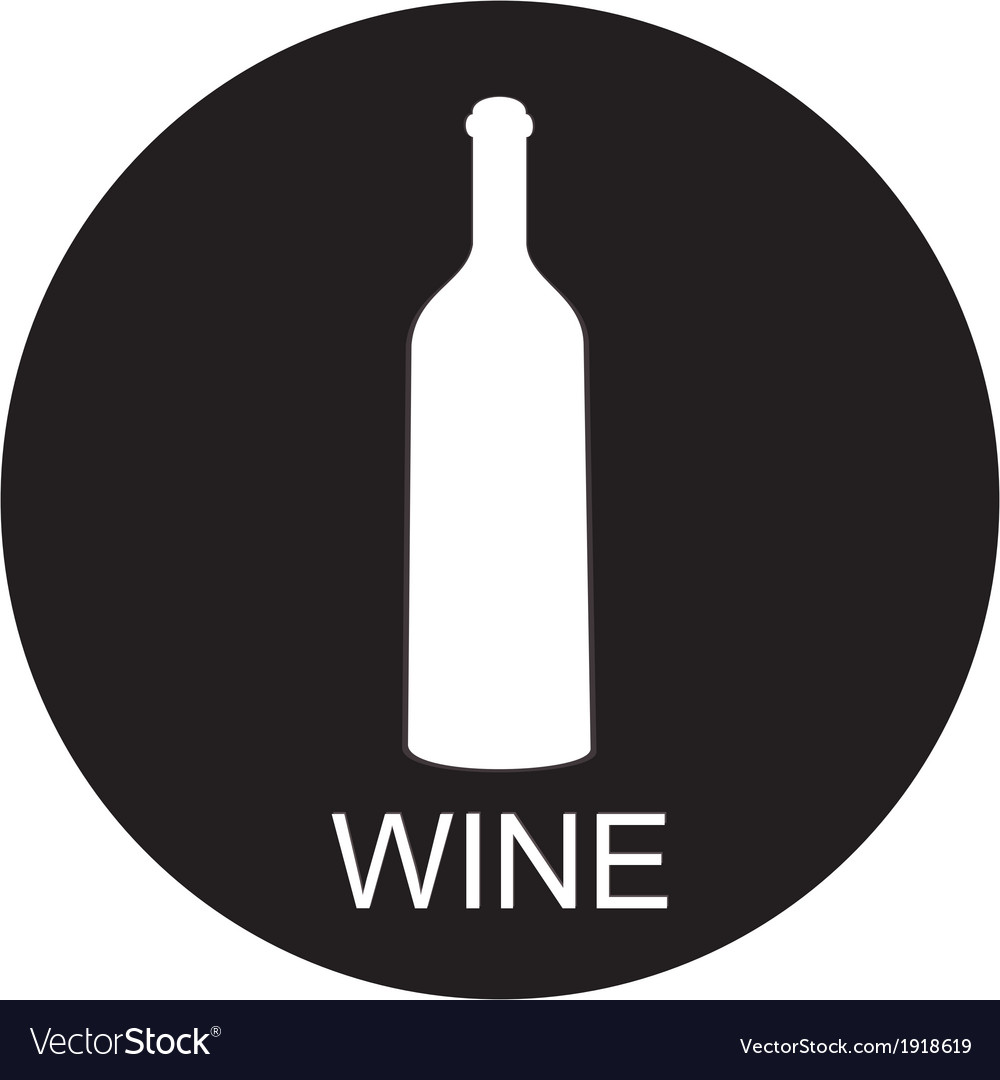 A bottle of wine and a glass icon vector | Price: 1 Credit (USD $1)