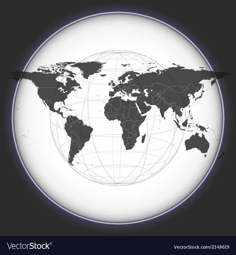 Black world map vector | Price: 1 Credit (USD $1)
