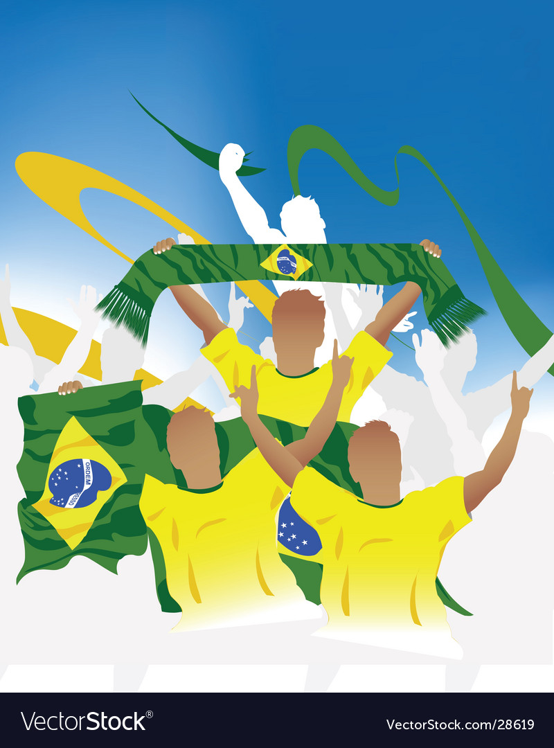 Brazil crowd vector | Price: 1 Credit (USD $1)