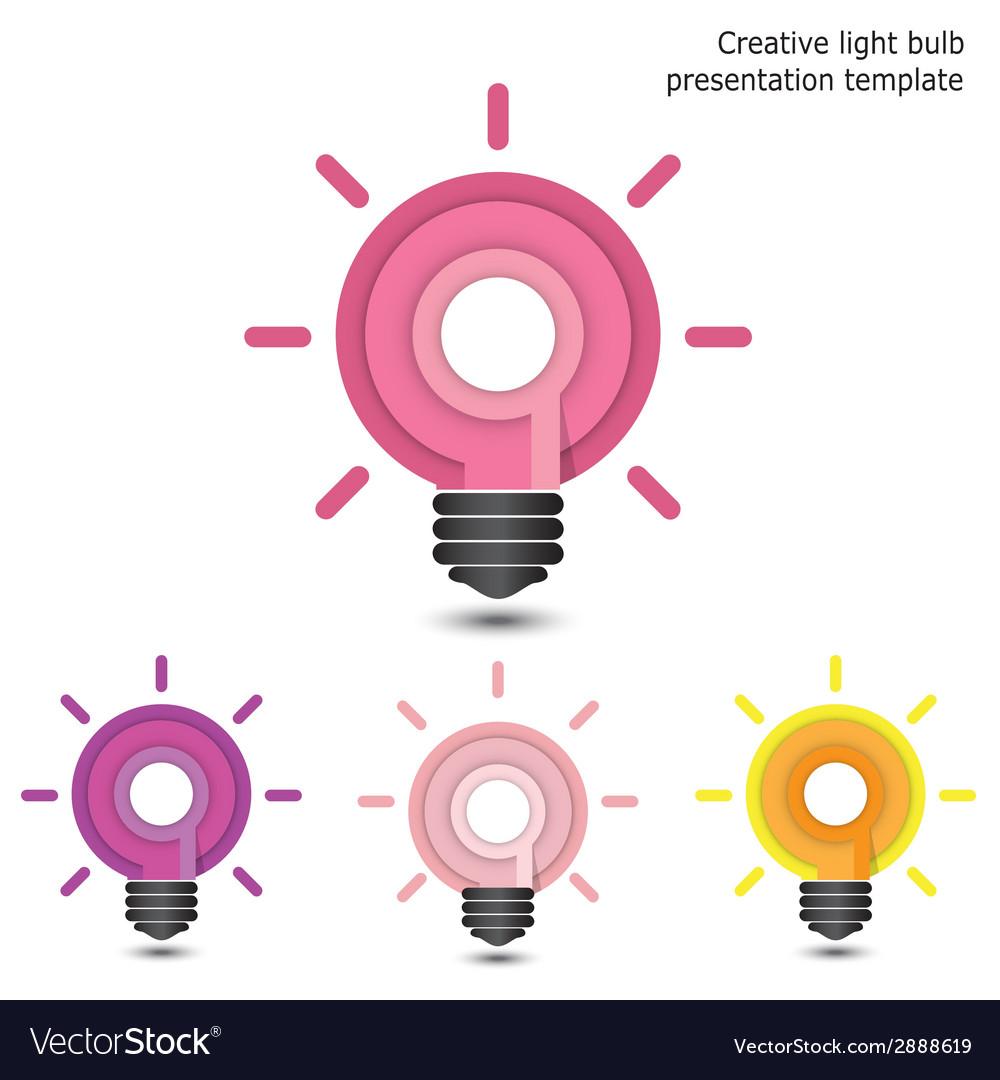 Creative pencil and light bulb design vector | Price: 1 Credit (USD $1)