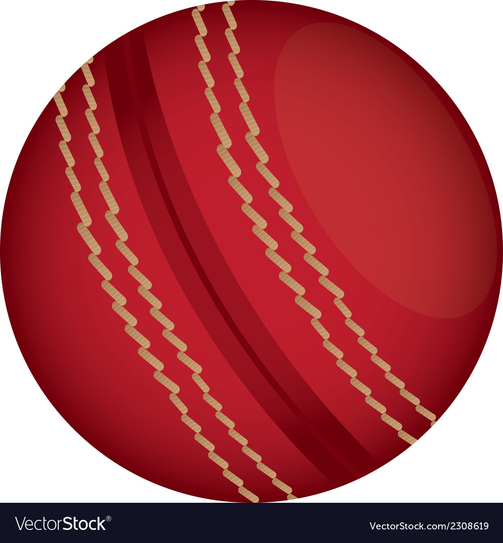 Cricket ball vector | Price: 1 Credit (USD $1)