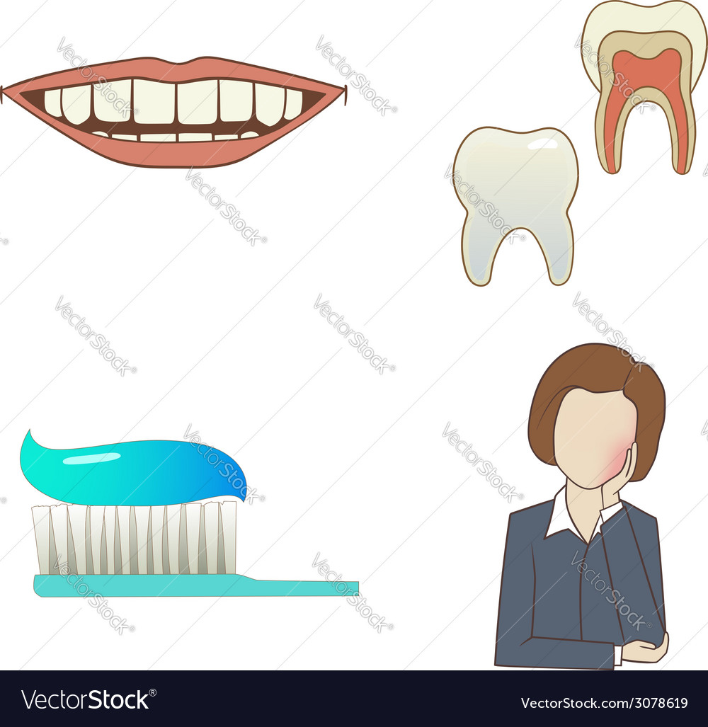 Dental set vector   Price: 1 Credit (USD $1)