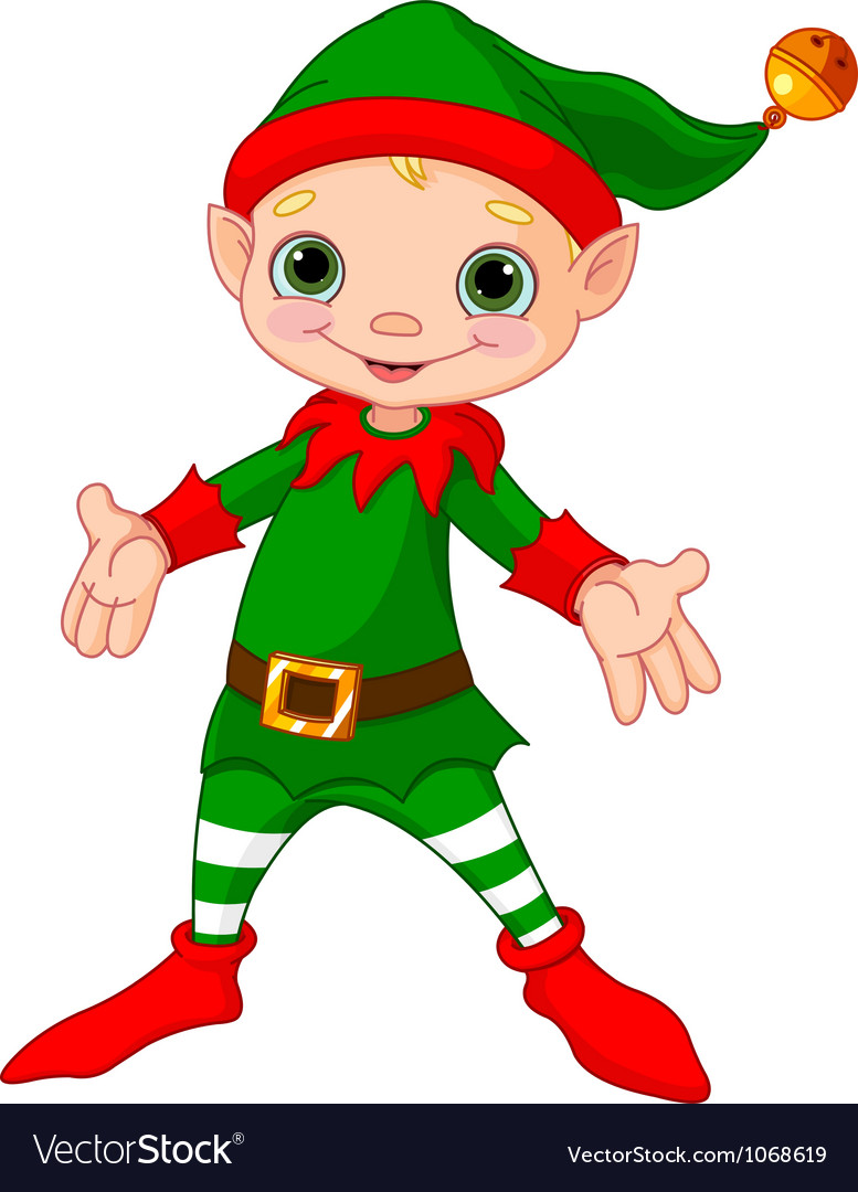 Happy christmas elf vector | Price: 3 Credit (USD $3)