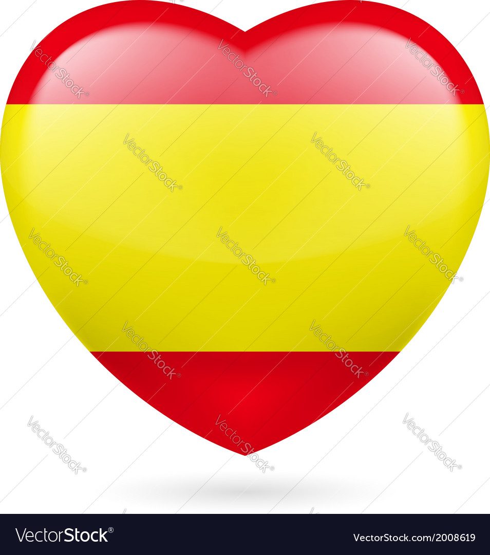 Heart icon of spain vector | Price: 1 Credit (USD $1)