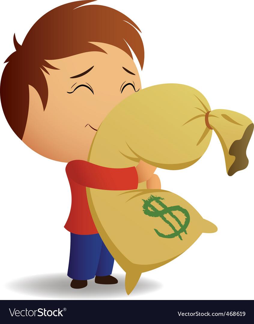 Money bag vector | Price: 1 Credit (USD $1)