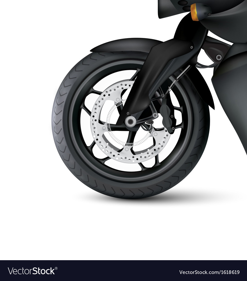 Realistic motorbike wheel vector   Price: 1 Credit (USD $1)