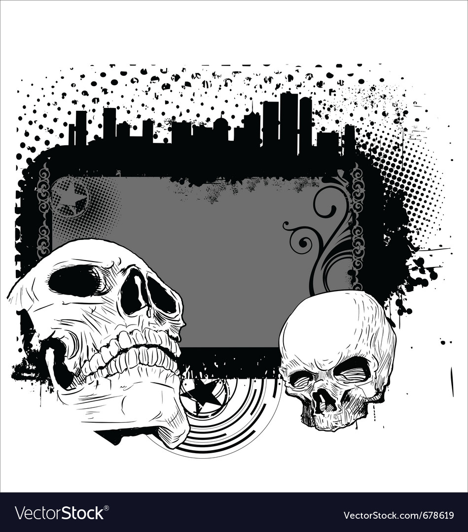 Skull background vector | Price: 1 Credit (USD $1)