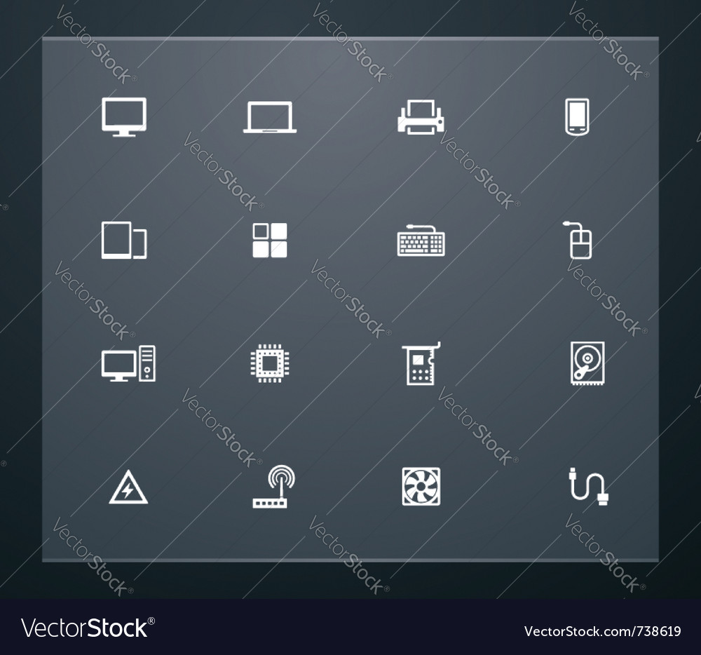 Technology related pictograms vector | Price: 1 Credit (USD $1)
