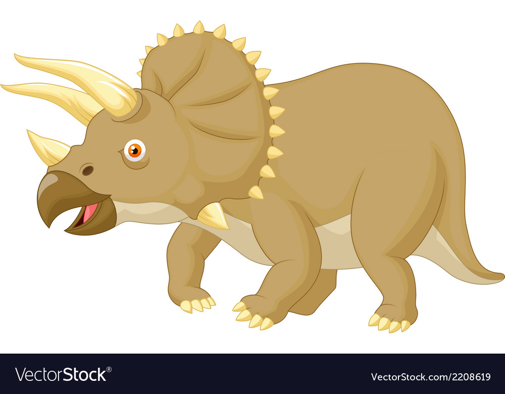 Triceratops cartoon vector | Price: 1 Credit (USD $1)