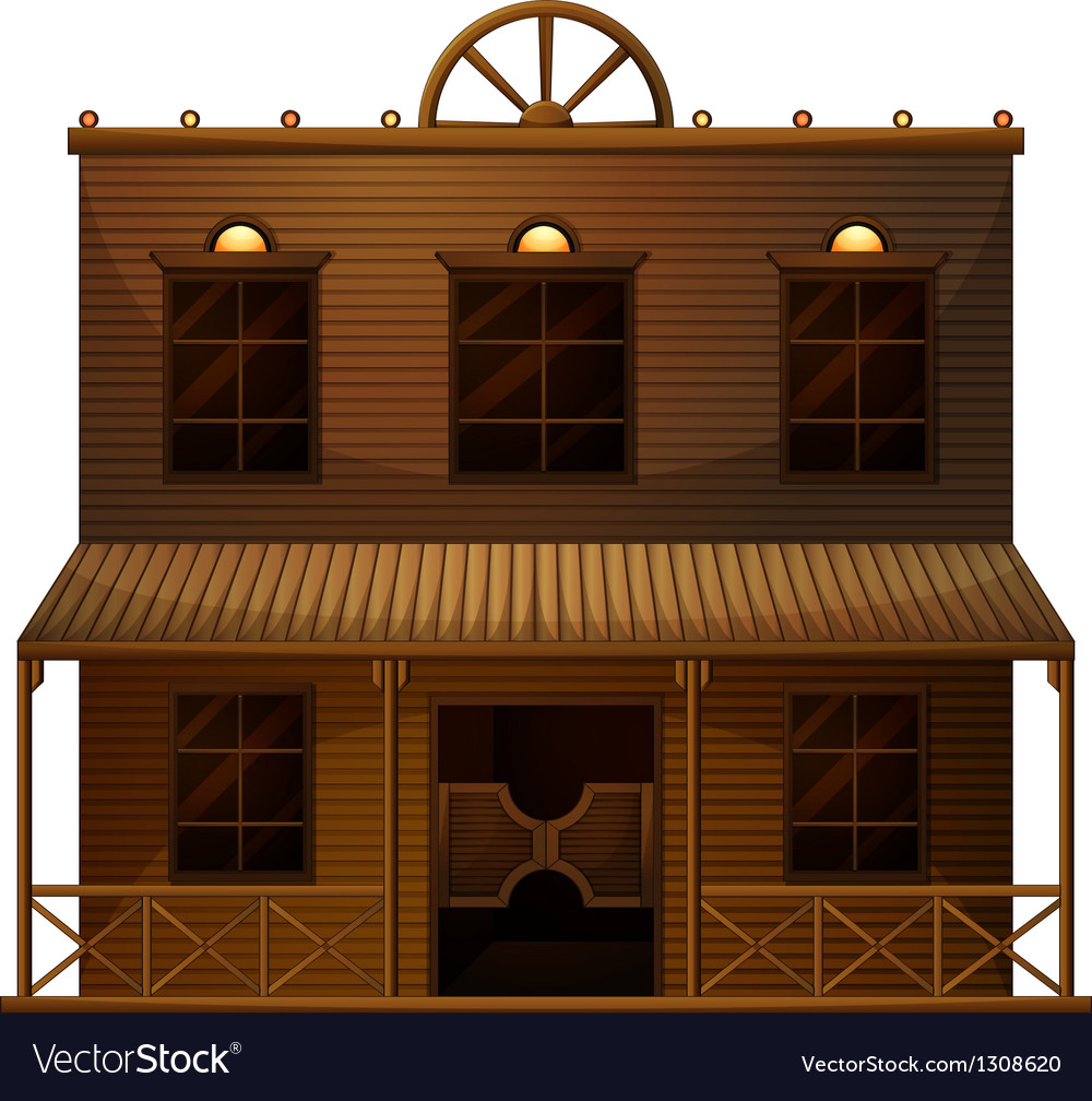 A wild west bar vector | Price: 1 Credit (USD $1)