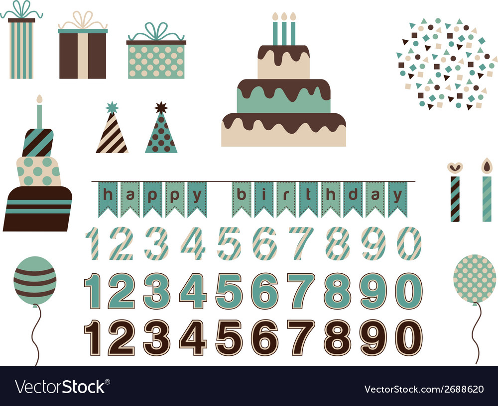Birthday pack vector | Price: 1 Credit (USD $1)