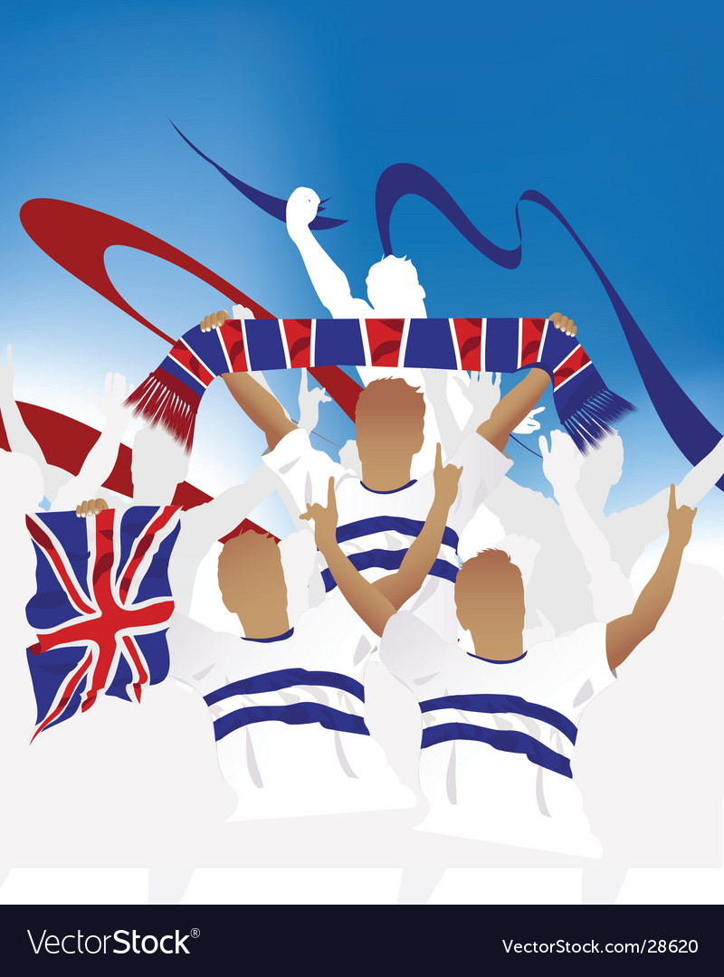 British crowd vector | Price: 1 Credit (USD $1)