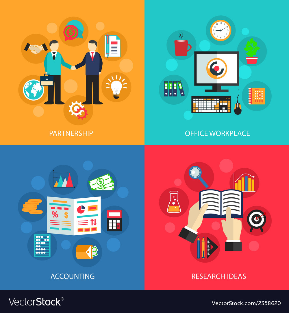 Business office work concept vector | Price: 1 Credit (USD $1)
