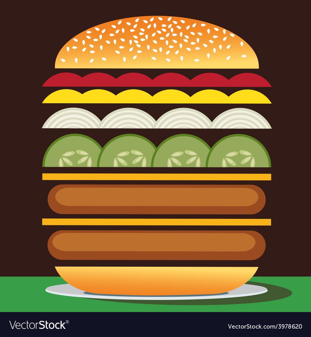 Cheeseburger double vector | Price: 1 Credit (USD $1)