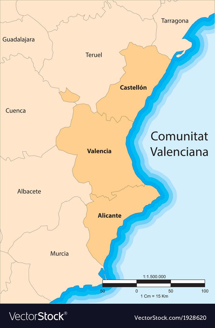Comunidad valenciana vector | Price: 1 Credit (USD $1)