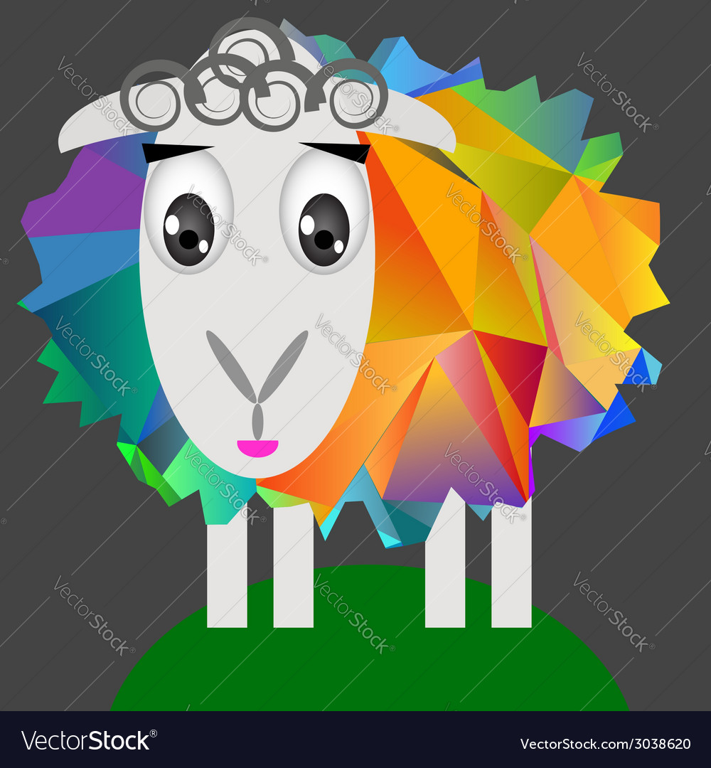 Cute sheep vector | Price: 1 Credit (USD $1)