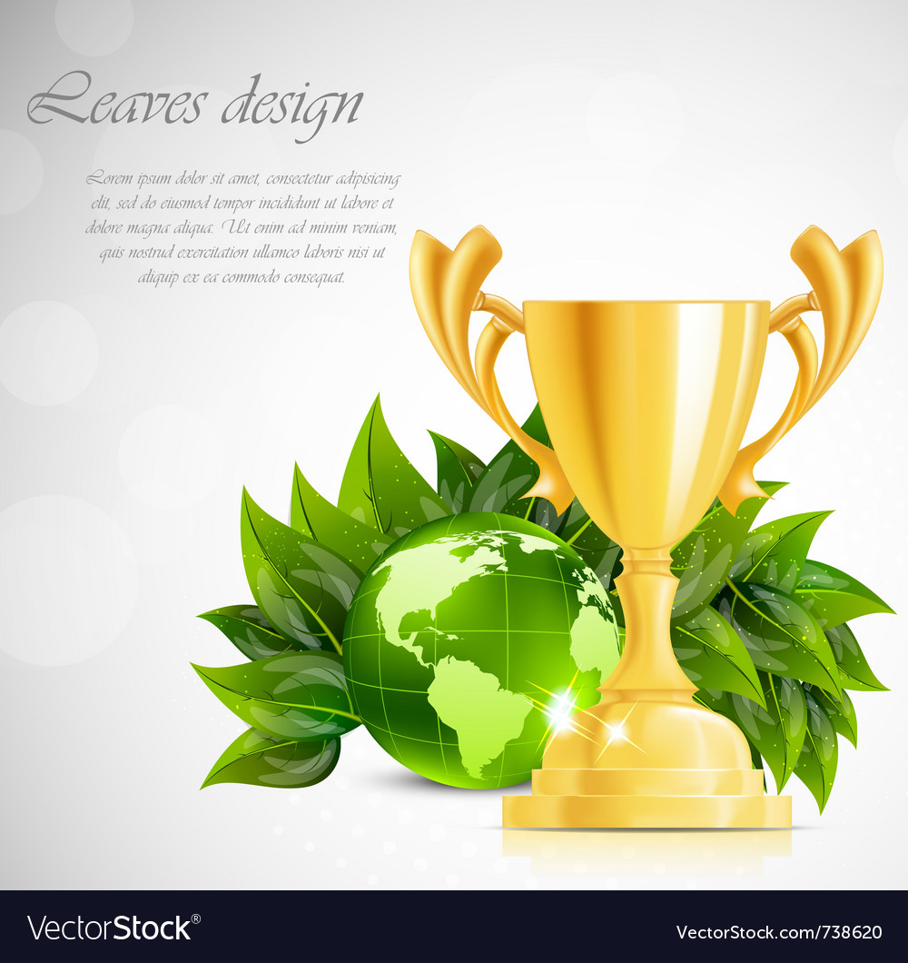 Design with cup and ball vector | Price: 3 Credit (USD $3)