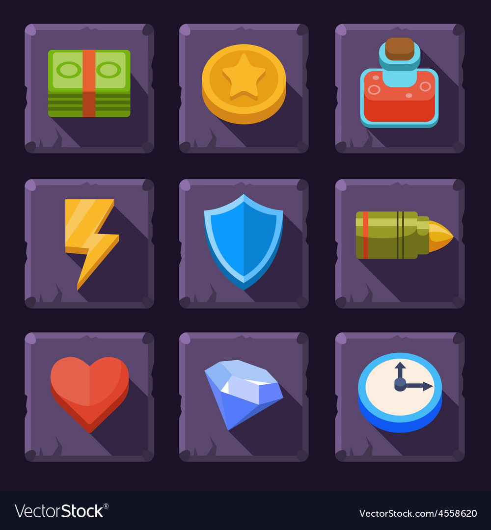 Game resources icons vector | Price: 3 Credit (USD $3)