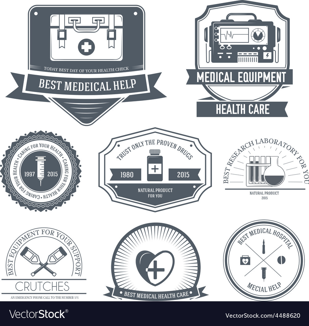 Medical label template of emblem element for your vector | Price: 1 Credit (USD $1)