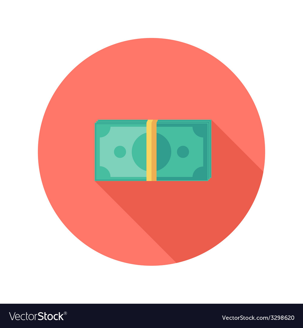 Money banknotes circle flat icon vector | Price: 1 Credit (USD $1)