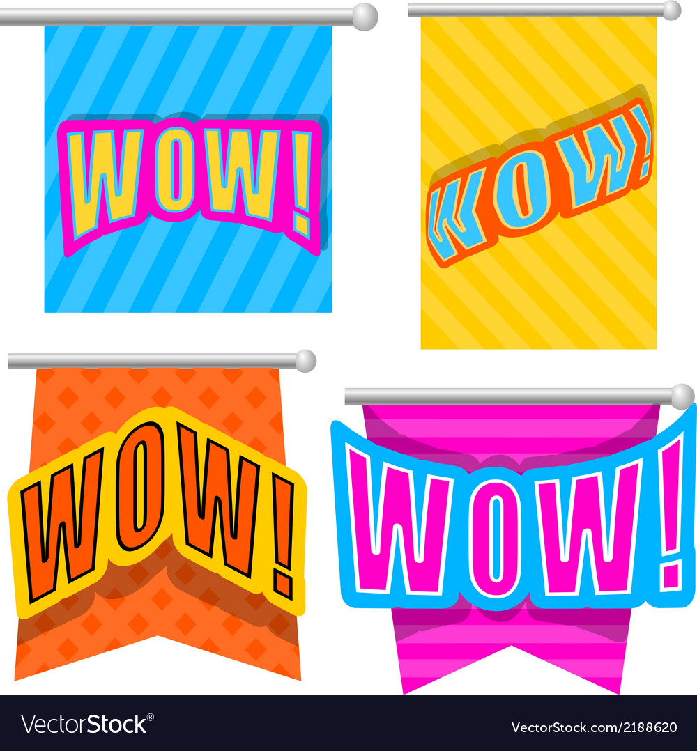 Set cartoon wow vector | Price: 1 Credit (USD $1)