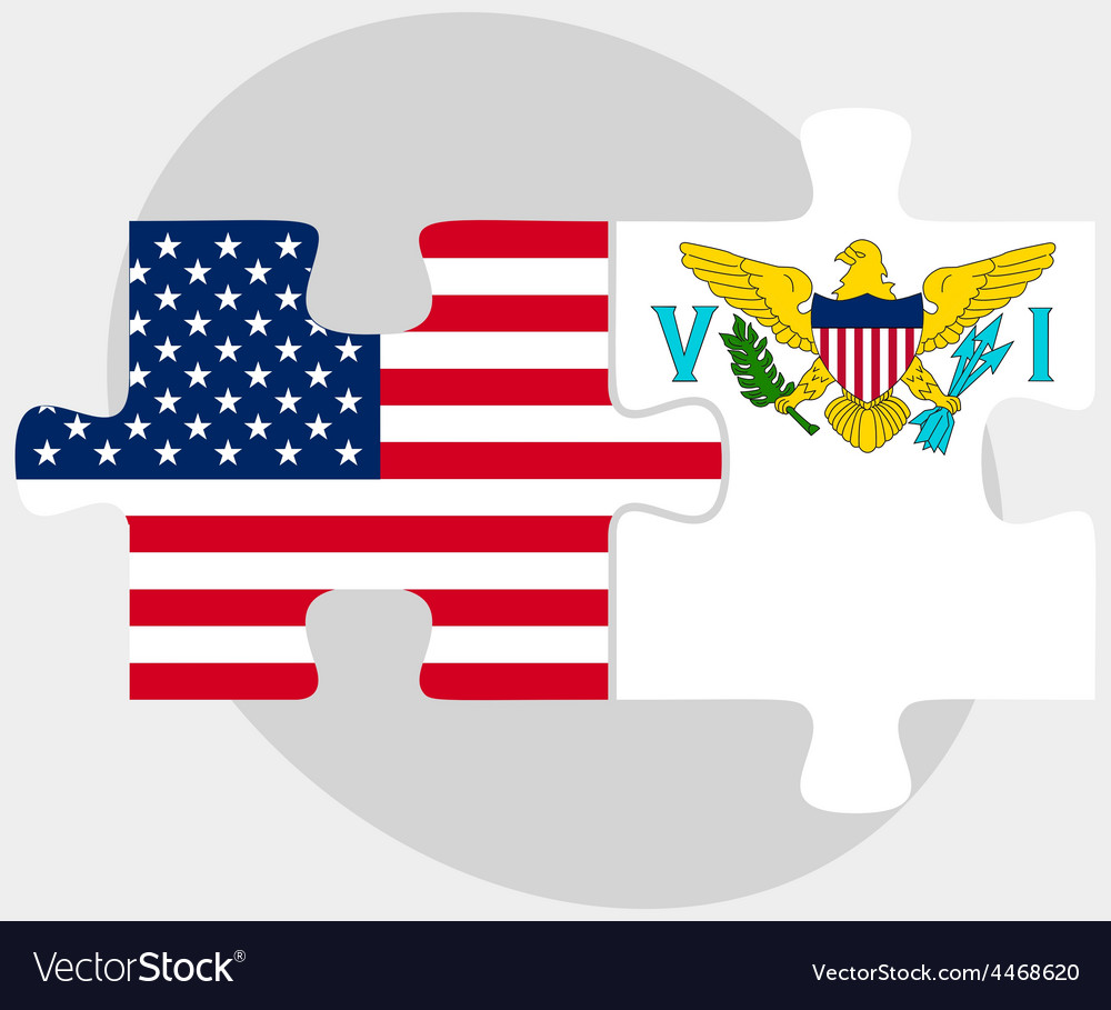 Usa and united states virgin islands flags in vector   Price: 1 Credit (USD $1)