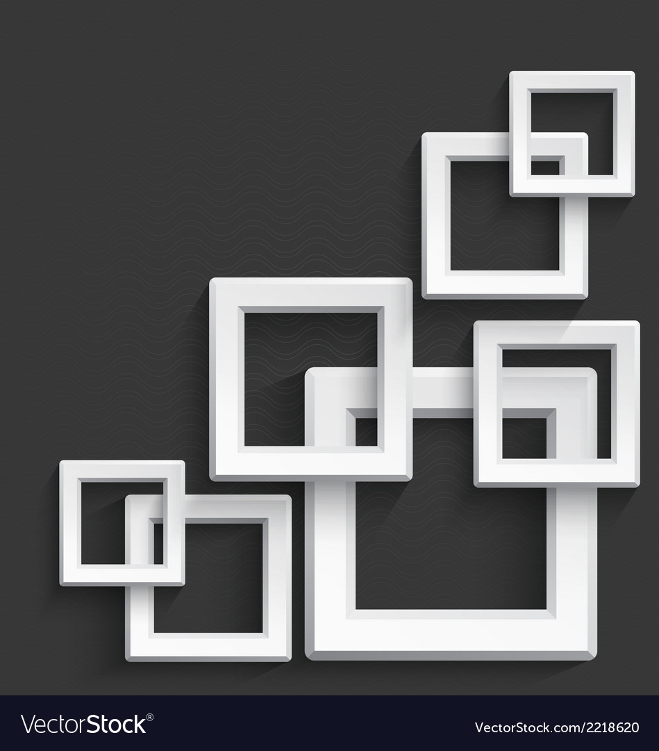 White square frames vector | Price: 1 Credit (USD $1)