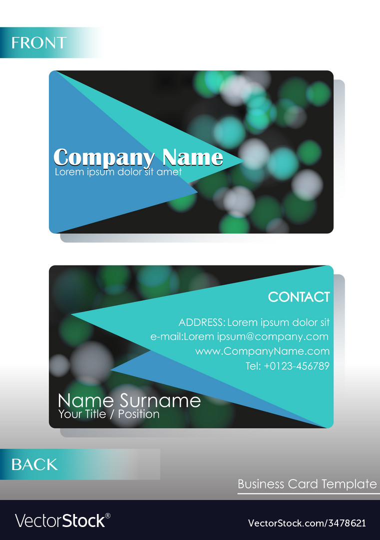 A company contact card vector | Price: 1 Credit (USD $1)