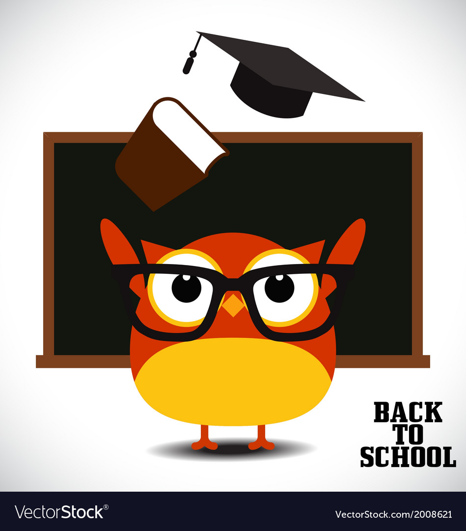 Back to school owl vector | Price: 1 Credit (USD $1)