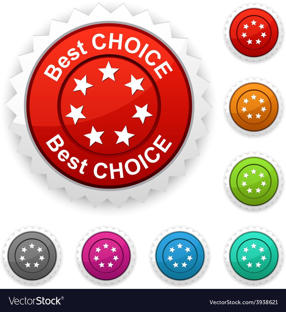 Best choice award vector | Price: 1 Credit (USD $1)